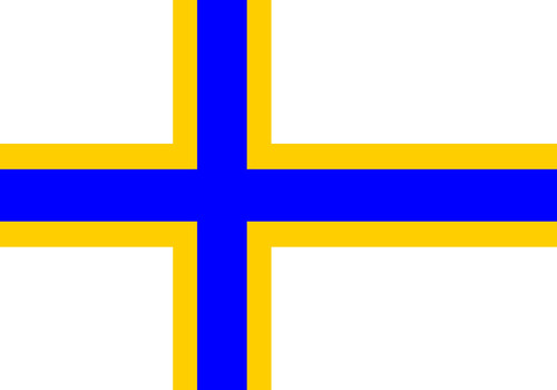 very big size Sweden Finns people flag